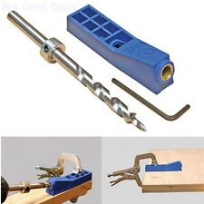 Mini Kreg Jig Kit Woodworking Pocket Hole Joinery Step Drill Bit Wrench