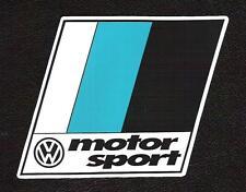 VW Volkswagen Motor Sport Motorsport Sticker, Scirocco, Rallye, Sportscar Racing