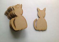 10 x cat wood craft formes