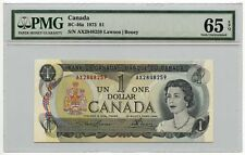 1973 Bank of Canada $1 Note BC-46a PMG Gem UNC 65 EPQ Lawson/Bouey