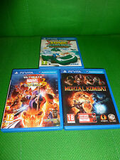 psvita ps vita 3 games lot marvel vs capcom ultimate mortal kombat sonic racing