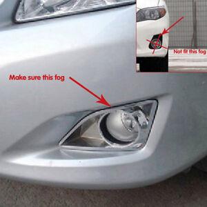 For Toyota Corolla 2009 2010 2011 ABS Chrome Front Fog light Lamp Cover Trim