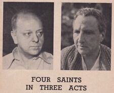 "1952 Playbill - Gertrude Stein's Opera ""Four Saints in Three Acts"" - V. Thomson"