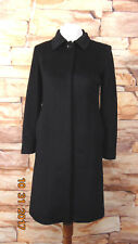 Ann Taylor black  collar peacoat wool cashmere blend size 2