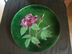 Vintage Bovano of Cheshire Enamel Over Copper Plate Rose Floral Terri