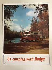 Original 1967 Go Camping w/ Dodge Sales Brochure A100, W200, D100-200 Pickup
