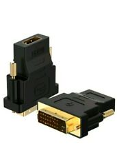 4 PACK Rankie DVI to HDMI Adapter Gold-Plated 1080P Male to Female Converter