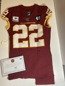Deshazor Everett Washington Football Team Captains Patch Game Used Jersey COA