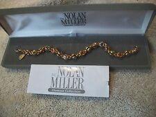 NOLAN MILLER Bracelet UNIQUE Double Set Multi Austrian Crystals GP Tennis NIB