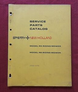 ORIGINAL 1973 NEW HOLLAND R5 R8 LAWN & GARDEN RIDING MOWER PARTS CATALOG MANUAL