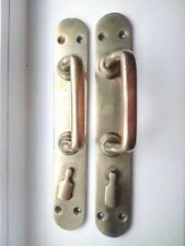 VTG  Big Heavy Antique Russian  Brass Door Handle Key Hole The late 19th century