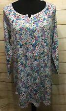 Karen Neuburger Petite Small Nightgown Sleepwear Cotton Blend New Blue Floral