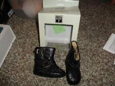 SMALL FRYE BLACK LEATHER BOOTS INFANT BABY SZ 1