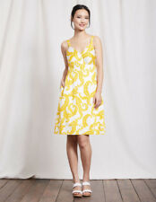 Boden ''Nicole'' A line shape White&Yellow Printed Dress size 6 UK