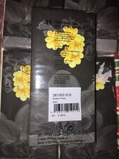 "ti-flair NEW Style 13"" x 13"" Buffet Napkins LoT 16 Modern Flower Black Yellow"