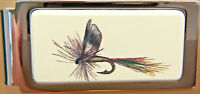 Money Clip Barlow Photo Reproduction in Color of Fly Lure Hinged 526307c Fishing