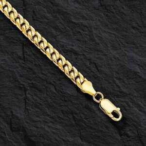 14k Rose Gold Plated Bracelet Curb Cuban Link 9MM Hip Hop Men's Italian Design