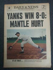 Mickey Mantle - Yankees - Baseball - 1967 New York Daily News Newspaper - COLOR