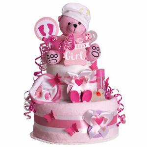MomsStory - Windeltorte Mädchen 1.410   Baby-Geschenk Geburt Taufe Babyshower