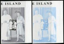 EASDALE ISLAND QUEEN ELIZABETH II WITH POPE JOHN PAUL II PROGRESSIVE S/SHEETS NH