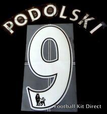 Arsenal Podolski 9 Name/Number Set Football Shirt Lextra 07-13 Sporting ID Home