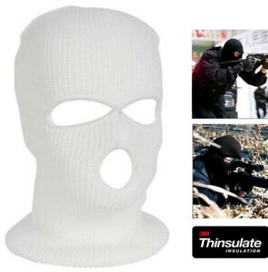 Weiß Thermo Sturmhaube Thinsulate SAS Stil Armee Ski Gestrickt Face Maske Schal