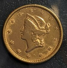 1853 Liberty Head $1 One Dollar United States Gold Coin Uncirculated Details