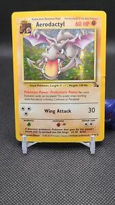 Pokemon - AERODACTYL 1/62  Holo Rare Fossil Pls Read A001