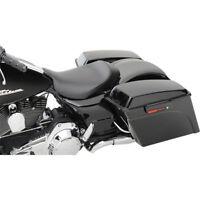 Saddlemen S3 Leather Super Slammed Solo Seat for 2008-18 Harley FLHT FLHR FLHX