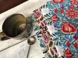 Set 20Pcs Indian Hand Block 100%Cotton Print Voile Fabric Napkins Assort. Floral