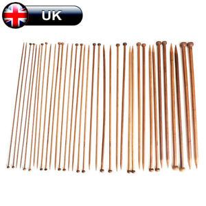 36pcs/Set 18Sizes Carbonized Bamboo Crochet Knitting Needles Single Tip Needles