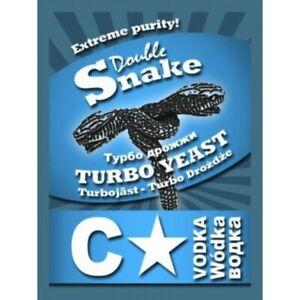 Double Snake Turbo Yeast,Wine,C3,C24,C48,C200,Rum,VodkaWhisky,Fruit