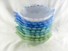 "10 Murano Opalescent Glass Shell Bowls, 7-3/4"", iridescent, slag, dish, plate"
