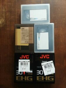 JVC TC-30 VHS C 90 Minute Camera tape Lot Of Five