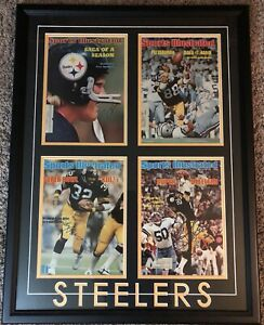 Pittsburgh Steelers Greats JSA Framed Original Sports Illustrated Covers