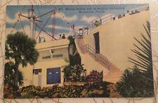 Marine Studios with Nautical Atmosphere MARINELAND FL vintage linen postcard