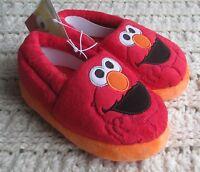 NWT Boys Girls Toddlers Slippers Elmo Plush Moccasins Sesame Street Size Choice