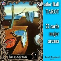 salvador dali art collectible tarot card cards deck major arcana rare vintage