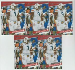 (5) Marlon Davidson 2020 PANINI PRESTIGE ROOKIE CARD LOT #281 ATLANTA FALCONS