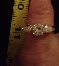 Women's 7 14K Gold Cz Ring