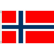Norway Large Flag 8Ft X 5Ft Norwegian National Country Banner With 2 Eyelets