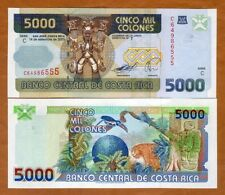 Costa Rica, 5000 ( 5,000 ) Colones, 2005, Pick 266 (266c) UNC > ornate