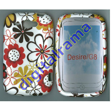 Case in TPU Bulk White/White Flower/Flowers 03 x HTC G8/Desire/Wildfire
