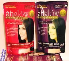 AHGLOW Hair Rebonding Set Permanently Straight Curly Hair Extra Strength Formula
