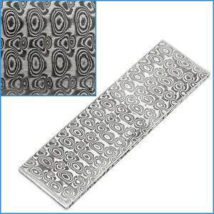 Rose VG10 Forged Stainless Steel Clad Damascus Billet Bar 100 x 30 x 2.5