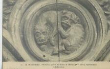 CPA-43-LA CHAISE-DIEU médaillon sculpté des stalles de