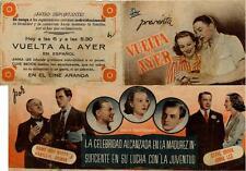 Programa PUBLICITARIO de CINE: VUELTA al AYER.
