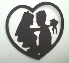 10 x BRIDE /& GROOM WEDDING SILHOUETTE  #1 Die Cuts Quality Black Card