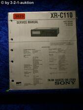 Sony Service Manual XR C110 Cassette Car Stereo (#3623)