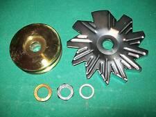 Delco Alternator Deep Groove V Belt Pulley Fan Set Kit For GM Alternators